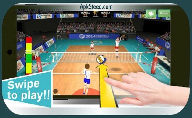 Volleyball Champions 3D 2014 на андроид взломанная версия