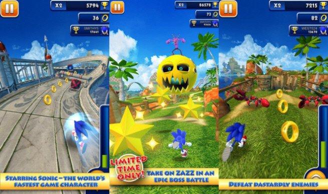 скачать Sonic Dash мод много денег - фото 7